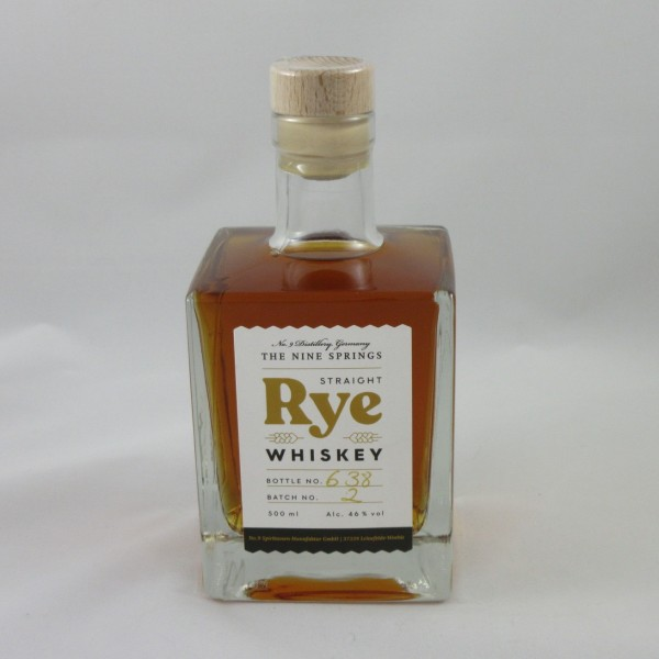 The Nine Springs Straight Rye Whiskey